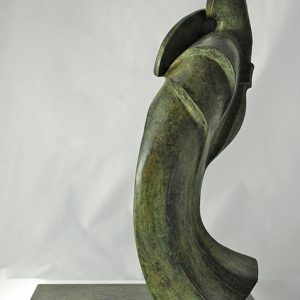 sculpture en bronze - Japon - grand eventail