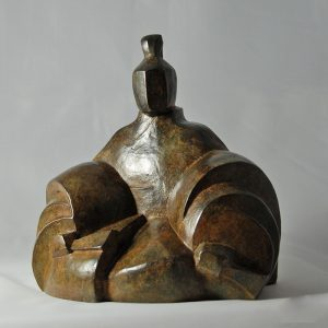 sculpture en bronze - shogun -la decision