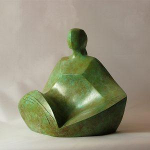 sculpture en bronze -la natte-