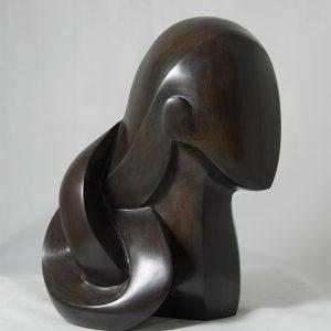 sculpture en bronze - tete -Penelope