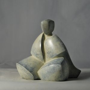 sculpture en bronze pose meditation