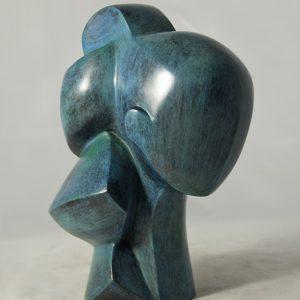sculpture en bronze - tete - helene de troie