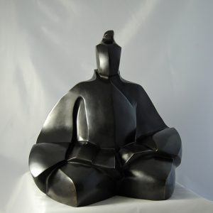 sculpture en bronze - shogun -Japon medieval