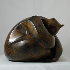 sculpture en bronze -ressourcement-sumo