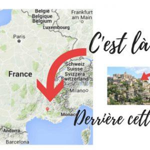 Camy Sculpture - Indication de la galerei de Gordes sur la carte de France