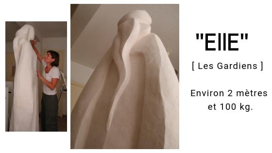 """alt="""" Elle- sculpture en platre de Camy """""""