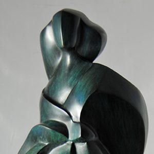 camy sculpture- bronze -un peu de vent
