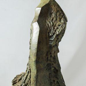 sculpture en bronze - femme avec mouvement de robe- type espagne