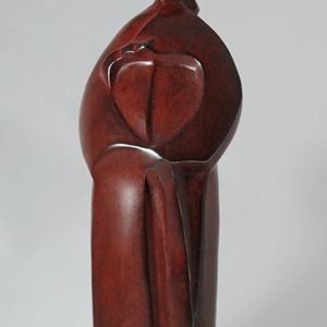 sculpture en bronze - le ruban - robe coreenne
