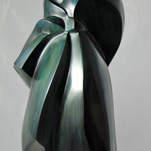 sculpture en bronze - un peu de vent -