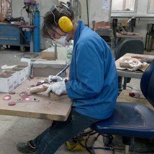 Camy sculpture- ciselure à la fonderie