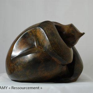Camy sculpture- bronze -ressourcement