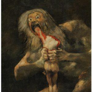 Tableau de Goya- Saturne dévorant un de ses enfants