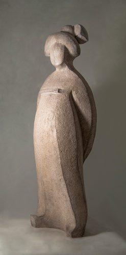 sculpture terre cuite contemporaine femme inspiration Chine ancienne