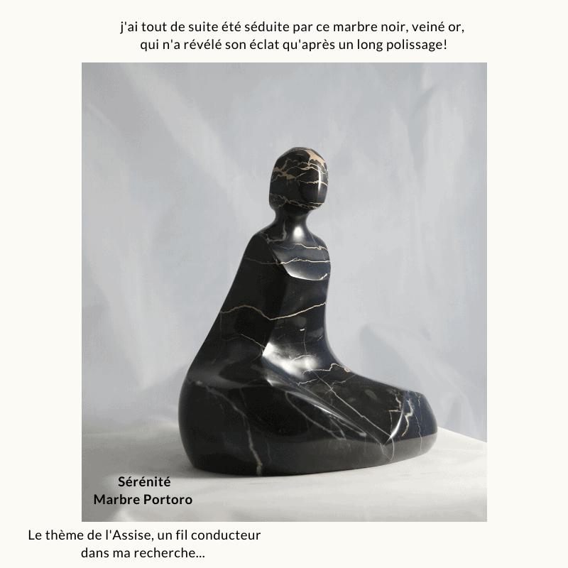 camy sculpture marbre portoro