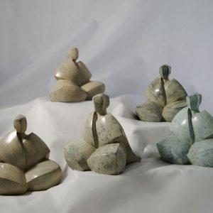 Camy sculpture - Bronze Sous les flocons