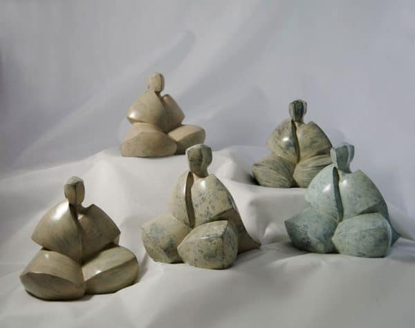 Camy sculpture- Bronze -sous les flocons